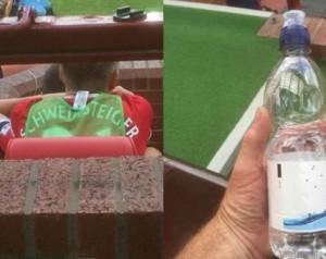 Egy szurkoló lenyúlta Schweinsteiger vizes palackját