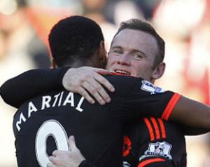 Rooney Martial-t dicsérte