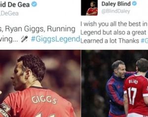 Giggs elõtt tisztelegtek a játékosok