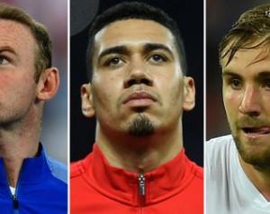 Rooney, Smalling és Shaw az angol válogatottban