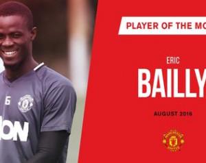 Bailly lett augusztus hónap legjobb játékosa