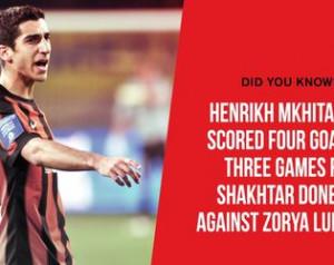 Mkhitaryan gólrekordja a Zorya ellen