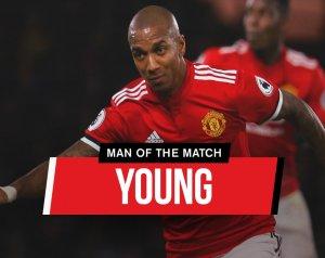 A mérkőzés legjobbja: Ashley Young