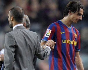 Zlatan: Guardiola egy éretlen edző volt a Barcánál